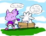 """I dun like the box Blaze"" by Umbra-Flower"