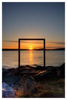 Sunset Frame by Julian-Bunker
