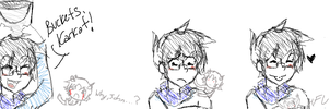 john fills a bucket with karkat by casualAddict