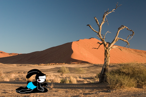 Oswald lost at desert by SuperMarcosLucky96