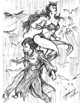 Trese and Darna TeamUp by fazcomx