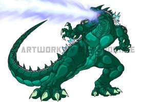 G-Wars Godzilla colored by AlmightyRayzilla