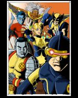 X-men Line art by Tim Timbo1834 and colored by me by Toe-Knee-Bee-Ears