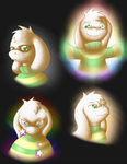 Asriel Dreemurr Emotions Study by Zephyter0