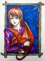 Young Melly and Draken by Grace-Zed