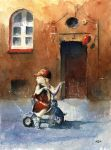 The girl on tricycle by sanderus