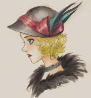 Hat with Feathers by oasiswinds