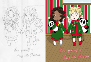 Holiday Card -- Scan 'n Paint by shinjuco