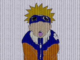 Naruto on the Wall_____Paper by LeBohemien