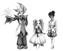 Smoll Three by LittleSakis-Aubade
