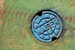 Metal Drain Cover by GrungeTextures