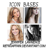 Jennifer Lawrence Icon Bases by retroaffair