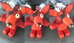 full body foxy plush by ninja-inu