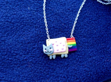 Nyan Cat Necklace by PyrgusMalvae