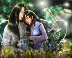 Neji romantic commission by RamaChan