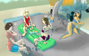 Wet Cement Pool Party!! by Silkyfriction