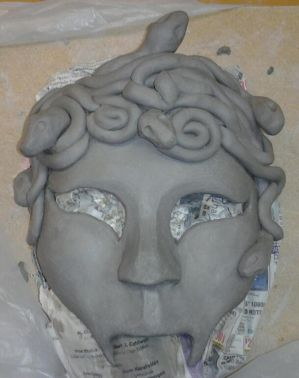 Medusa Mask on the Work Table