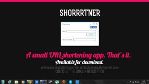 Shorrrtner. A cute URL shortener, that's it. by andreascy