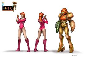 Samus Aran re-design by DarrenGeers