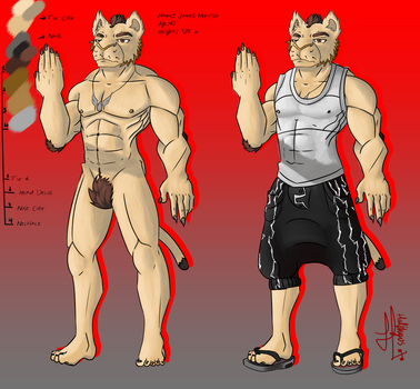Reference Sheet Comission for Dwight-Dman by Halphyos