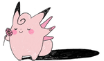Clefable and Gengar by bluekomadori