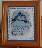 Bluebirds Cross Stitch by Tishounette