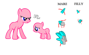 Mare And Filly .:You Know What You Did:. Base by GabbyPaint-PonyBases
