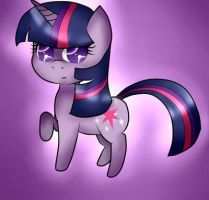 my little chibi twilight sparkle by valescalove321