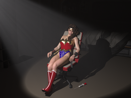 Wonder woman sedated by orionsforge
