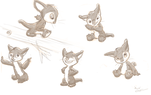 Hewie Sketches by thekeyofE
