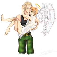 Germany and Britannia Angel by LadyRipper66