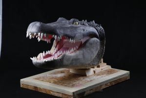 Lockjaw the American Alligator Animatronic Head by ShaggyGriffon