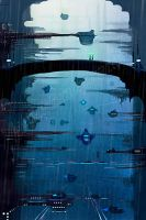 Bridge through the star port by NakadaiShimada