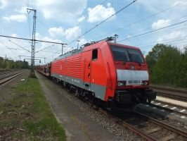 189 083 with empty pon train to Osnabruck by damenster