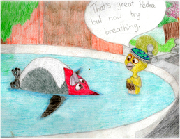 Swimming Lesson by Candle-stic