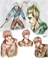 jack frost doodles by catorimadness