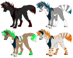 Punk dogs batch 3 ONE LEFT by Padded-Paws