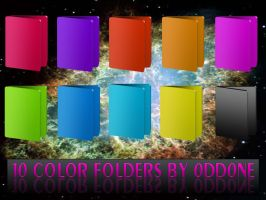 10 Color Folders by 0dd0ne