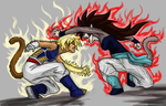 Mother Daughter Saiyan Brawl by Valkyrie-Girl