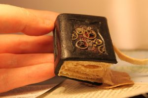 miniature steampunk style book / mechanics.hand by izibel1