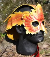 Leather Phoenix Headdress Mask Thing by SilverCicada