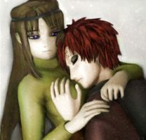 Gaara in the arms of Nezumi by PolishaMyshka