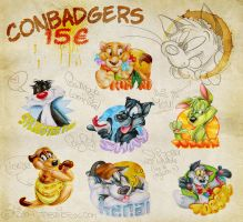 Conbadgers preview by Tabbiefox