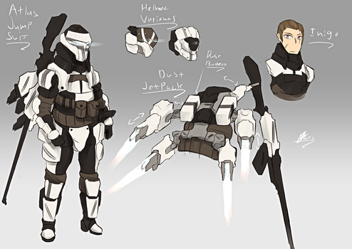 Atlas Jumpsuit - RWBY Concept Commission by Nakama-Raibor