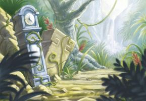 Tic Toc Jungle environment concept by ShaneMadeArt