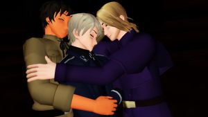 MMD: Bad Touch Trio - Napping by Free-Beloved-Army