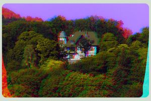 Villa above Eisenach 3D ::: Anaglyph HDR Stereo by zour
