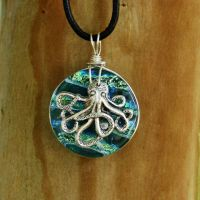 Ocean Octopus Fused Glass by FusedElegance