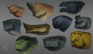 Monster busts by corndoggy