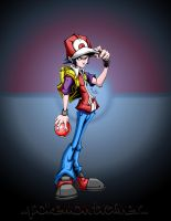 pokemon trainer with bg by pnutink